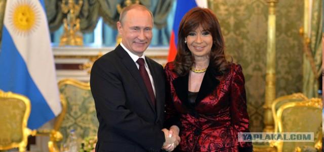 Встреча Владимира Путина с Президентом Аргентины К