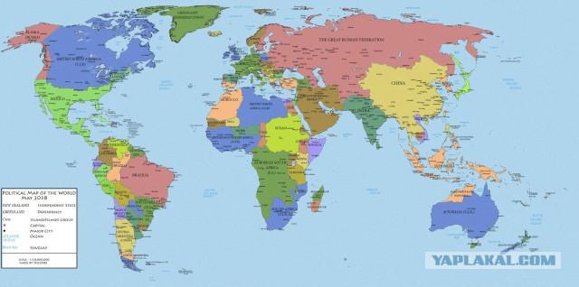Карта Мира 2038