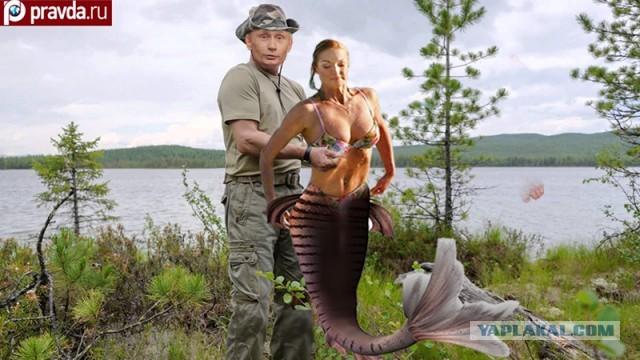 мужик ловит рыбу на хрене