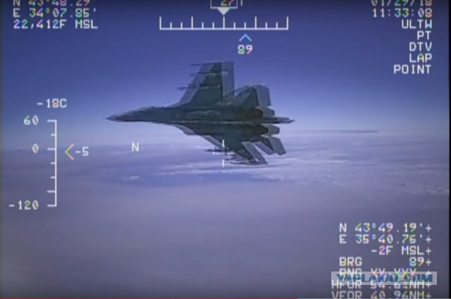 Реакция иностранцев на перехват российским СУ-27 американского EP-3
