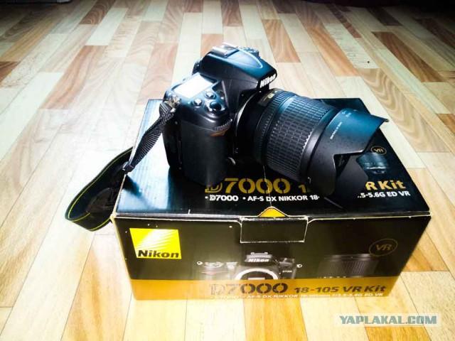Хорошая зеркалка, состояние новой! Nikon D7000 + Nikkor 18-105