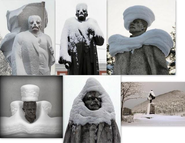 Снег и Ленин