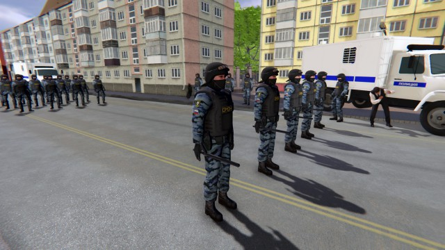 В Steam появился симулятор ОМОНа, в котором можно будет разогнать митинг