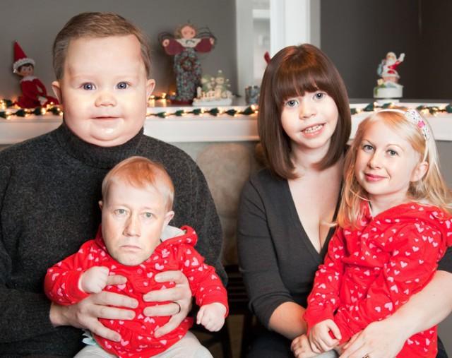 Жена хотела семейное фото на рождество.