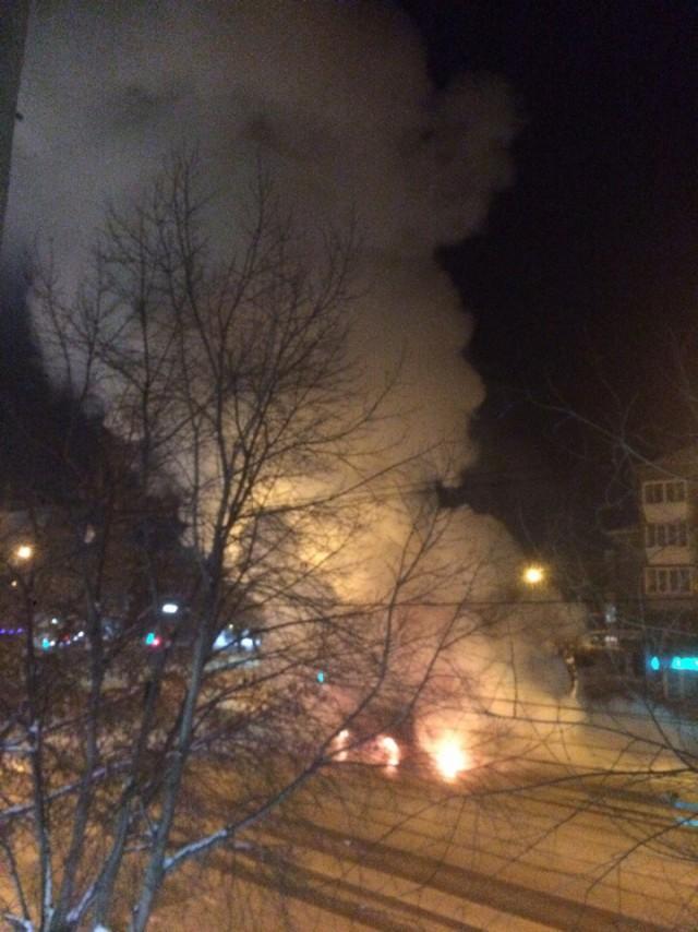 В центре Магнитогорска взорвалась маршрутка