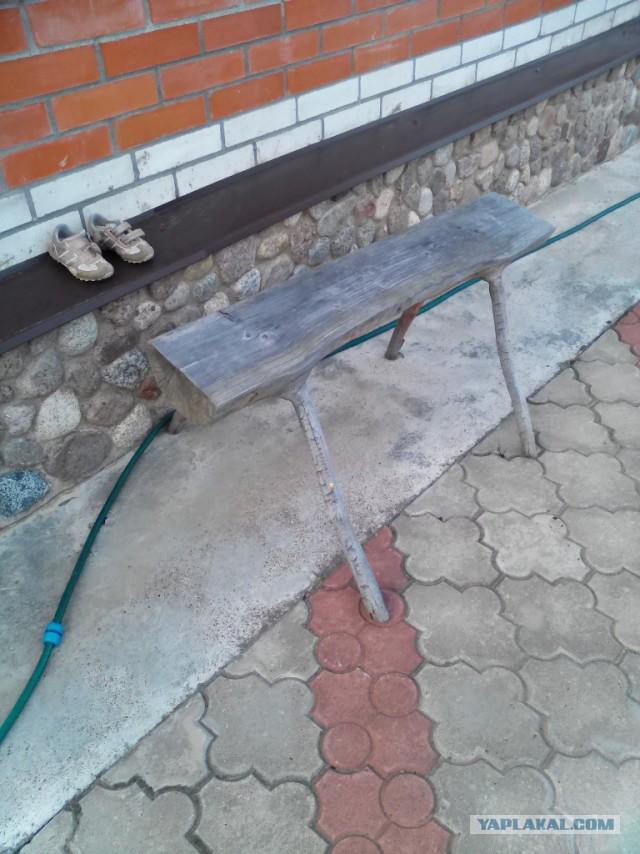 Скамейка на дачу.
