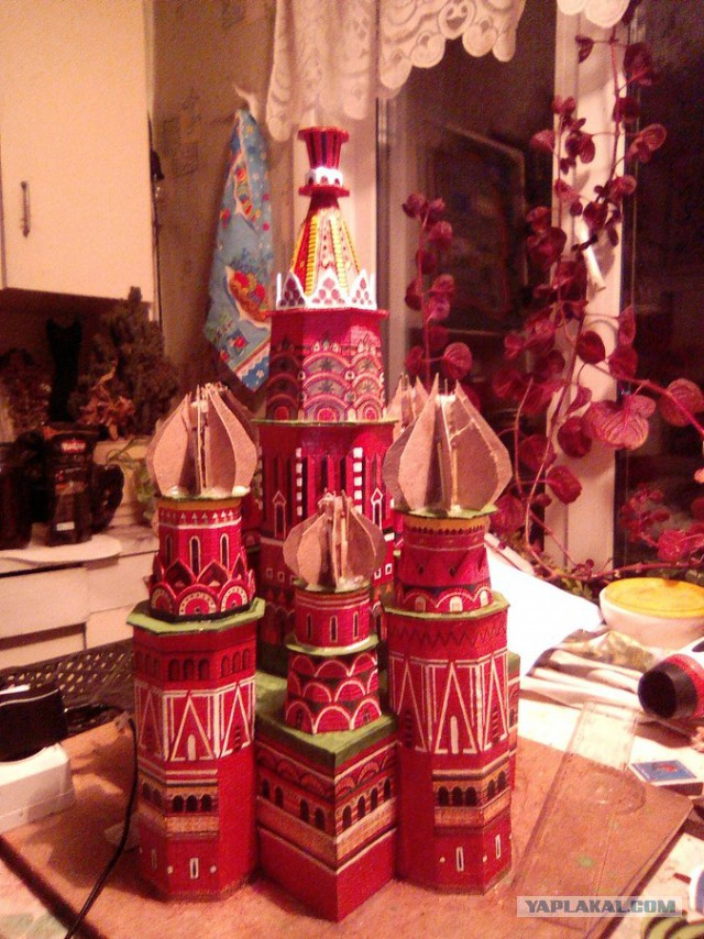 Как я макет собора Василия Блаженного строил