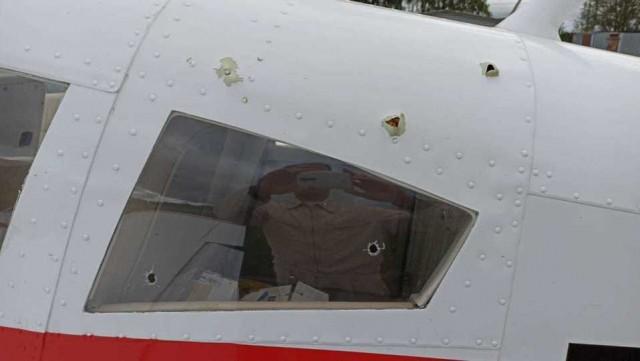Пенсионер обстрелял легкомоторный самолет
