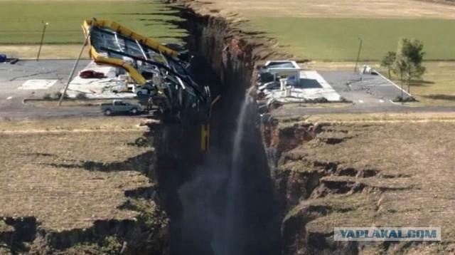 Масштабное движение земной коры происходит вдоль разлома Сан-Андреас