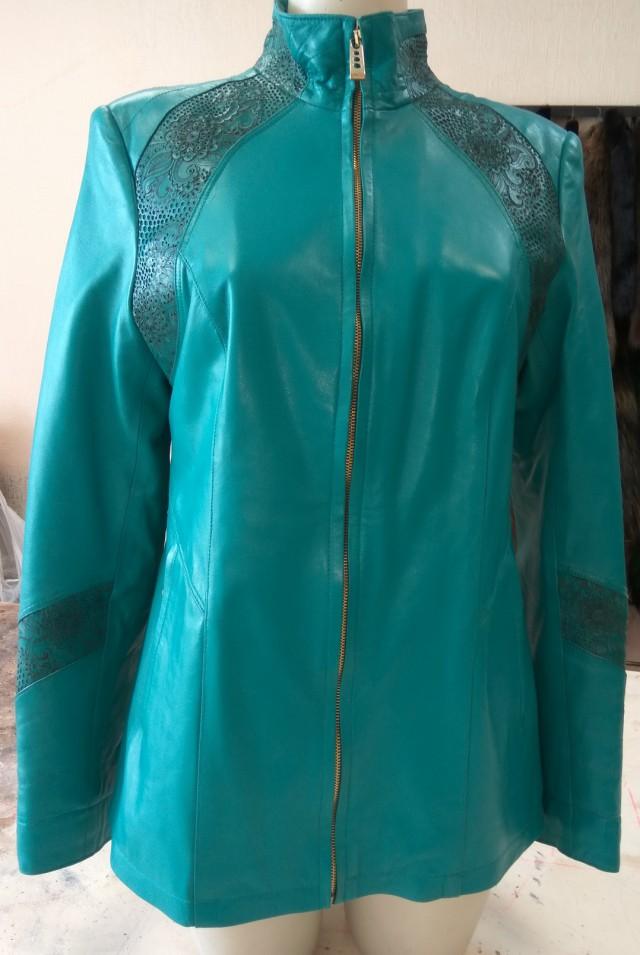 Куртка женская кожаная р.46 рост 170