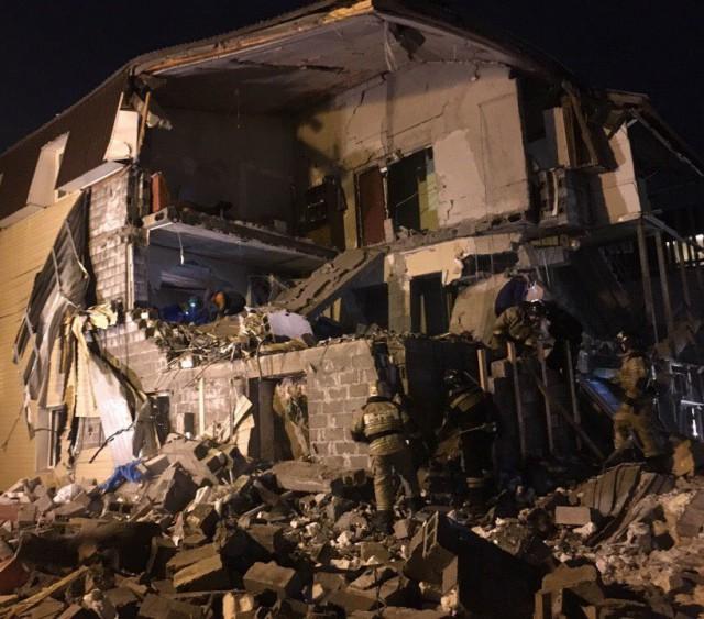Три квартиры разрушены после взрыва газа в Красноярске
