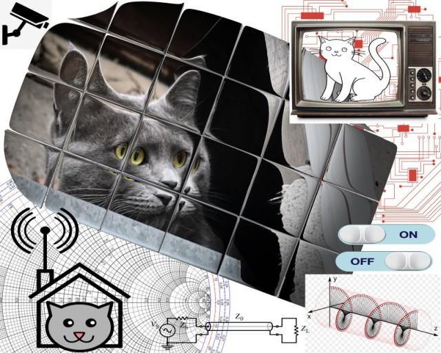 Домик с элементами хай-тека для бездомного кота