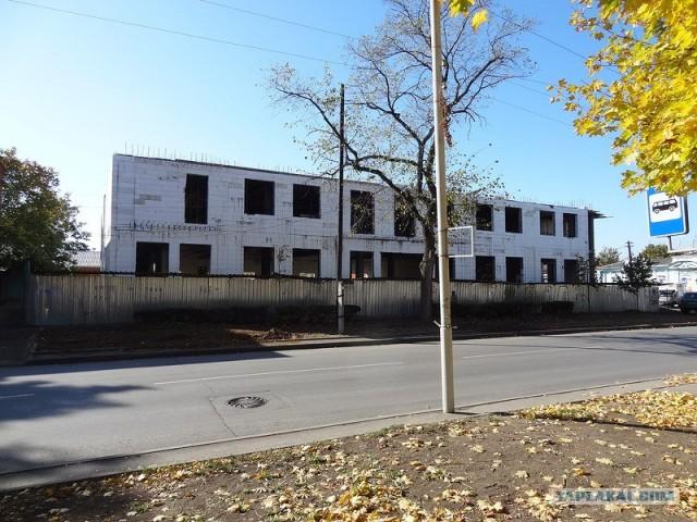 Рухнул дом в Таганроге
