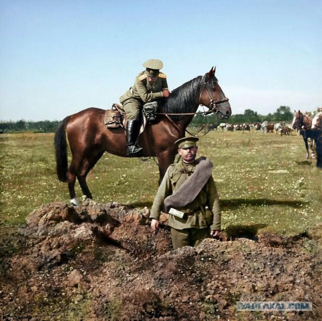Раскрашенные фотографии русских в Первой мировой войне