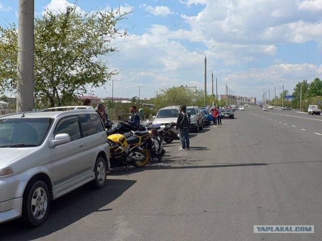 Самая массовая акция протеста на колесах в Чите