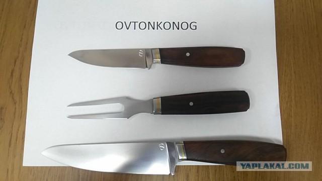 """продам набор ножей  кухня 2.0 от гд (Геннадия Дедюхина) из m390 + вилка . вариант """"мясоед"""""""