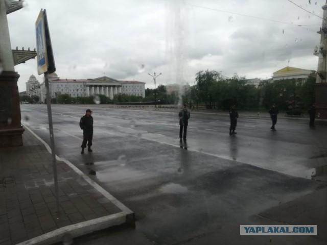 Центральную площадь Читы очистили от людей перед прибытием Матвиенко