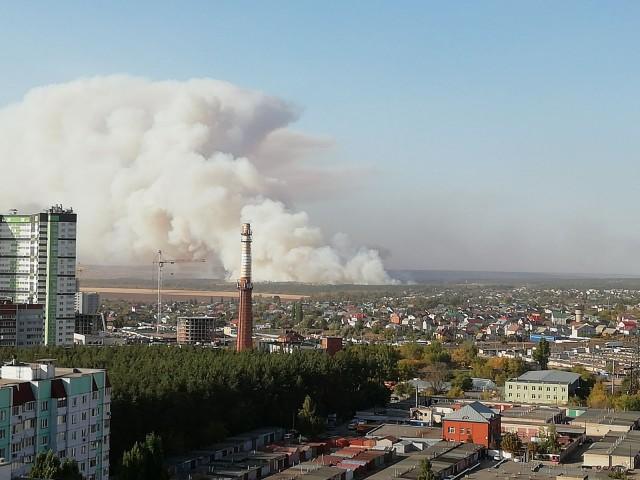 Воронеж, горит пригород
