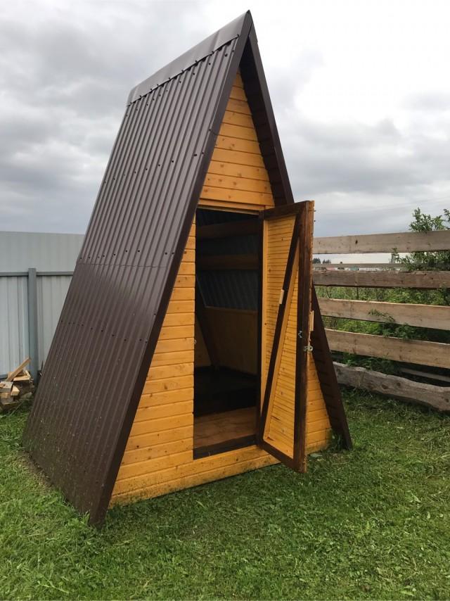 Постройка летнего туалета-шалаша v.2019
