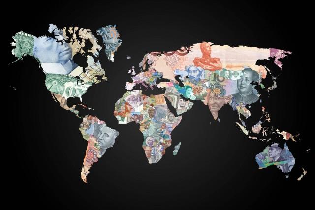 Карта валют мира