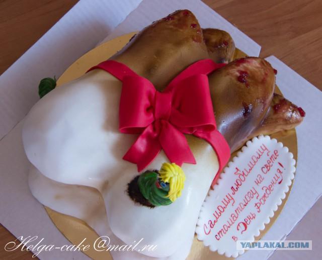 Креативные торты из мастики фото