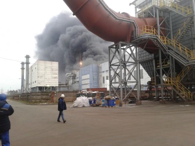 Пожар на турецком заводе феррохрома в Лен. области