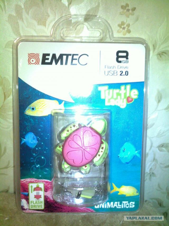 Emtec 8GB USB Flash Drive Turtle Lady