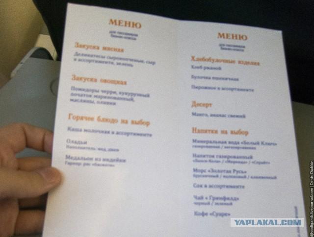 Бизнес-классом в Москву из Саратова
