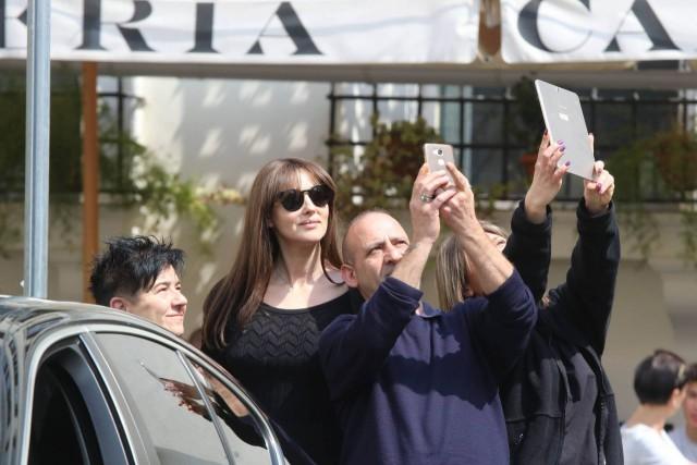 Моника Беллуччи в Риме