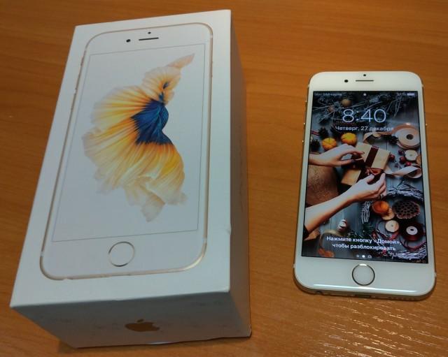 Золотой iPhone 6s 32Gb как новый - Новосибирск