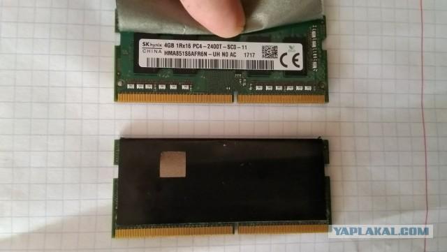 Оперативная память ( для ноута) SKhynix ddr4 4 GB - 2 планки по 4 GB