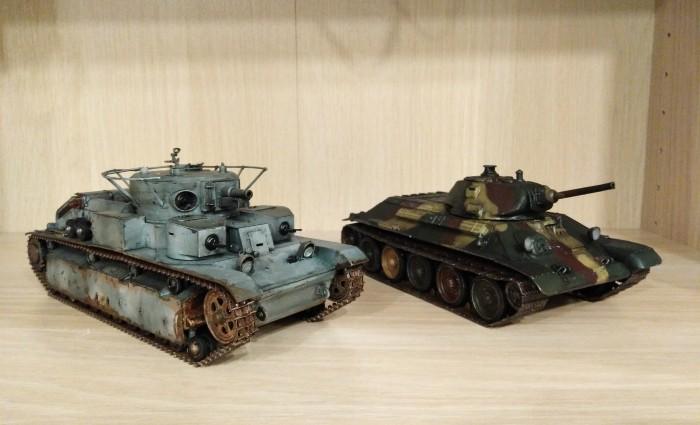 Я сделал! Танки Т-34 образца 40г. и Т-28