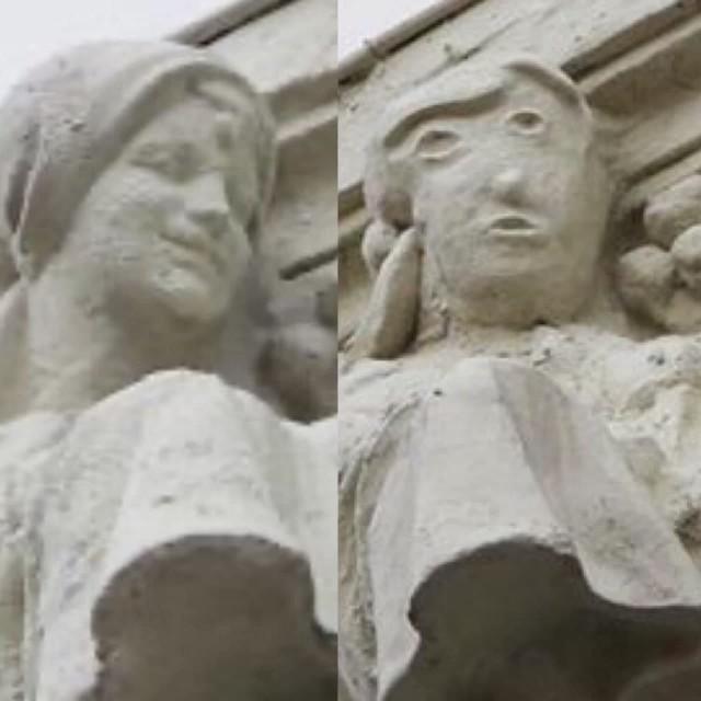 Ничего необычного, просто в испанском городе Паленсия реставратор изуродовал статую 1923 года