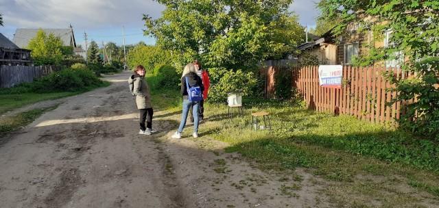 В Перми голосование по поправкам в Конституцию устроили на двух табуретках