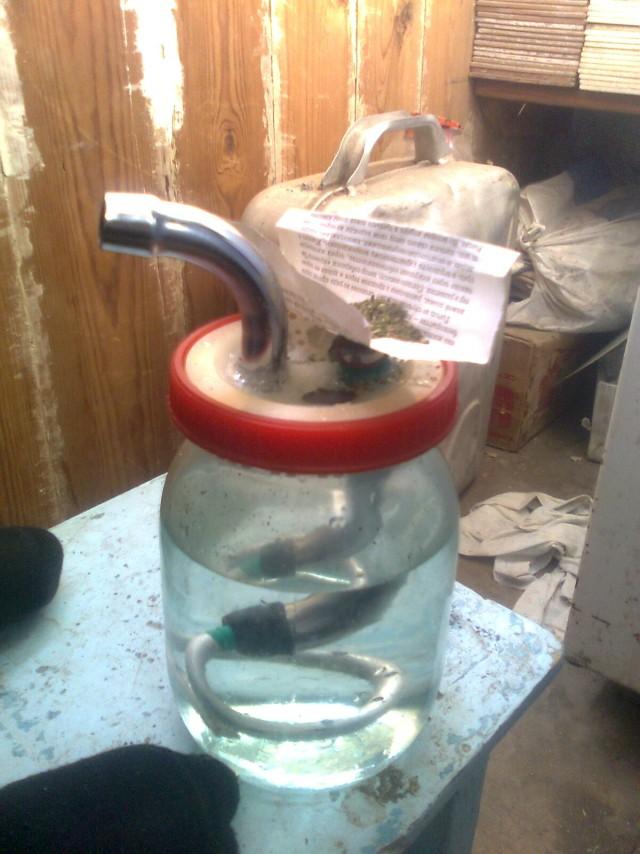 Ваза из 3-х литровых банок