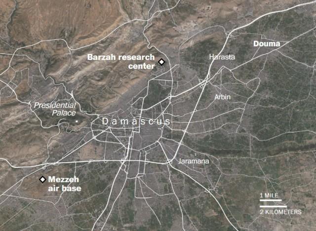 Фото последствий авиаудара по территории Сирии