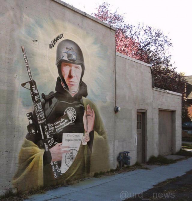 В Австралии неизвестный нарисовал граффити с образом Брентона Тарранта