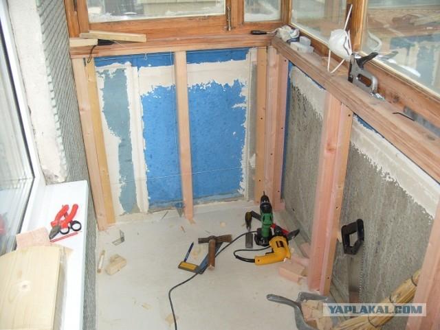 Как отремонтировать своими руками балкон