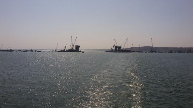 Последние фотографии Крымского моста без пролетов