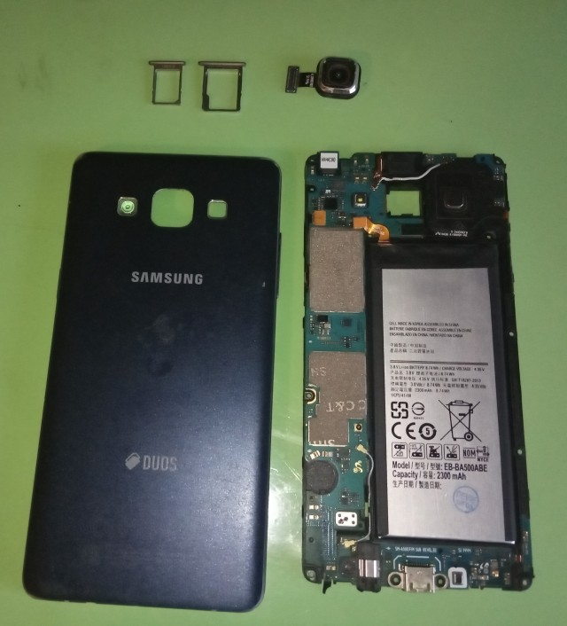 Samsung A5 2015 A500 Плата и корпус. Акб новый