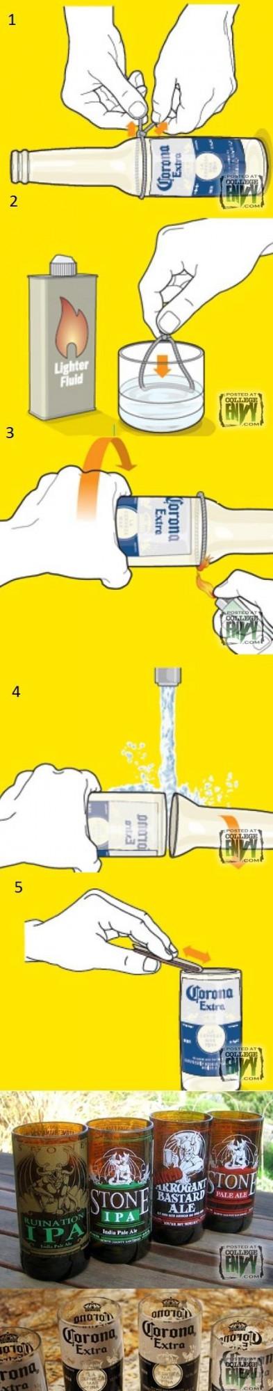 Как превратить бутылку в стакан