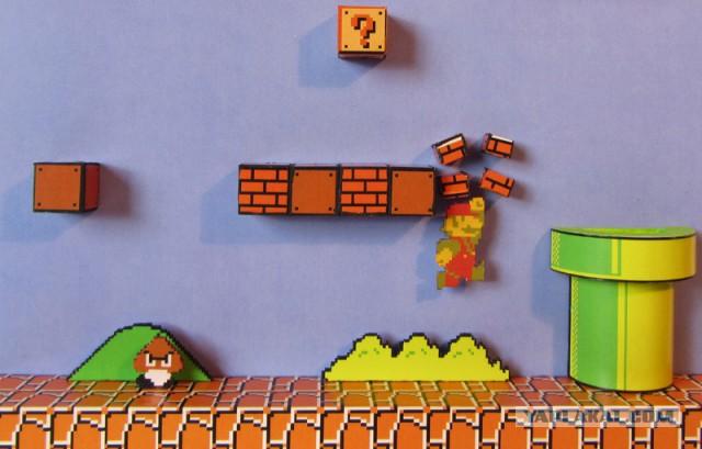 Диорама по Super Mario Bros