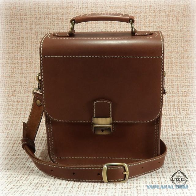 Мужская сумка ручной работы. Натуральная кожа.