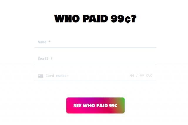 Какой хороший проект. Он предлагает вам заплатить 99 центов, чтобы узнать имя предыдущего идиота.