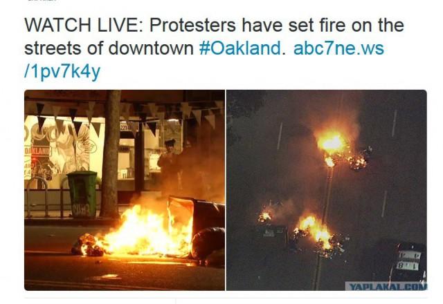 В Калифорнии начались акции протеста против победы Трампа