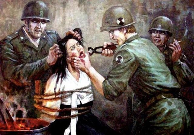 Антиамериканская пропаганда в Сев.Корее.
