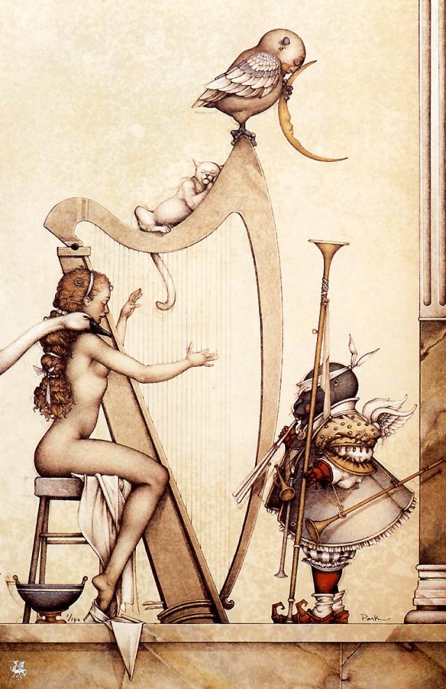 рисунки Майкла Паркеса