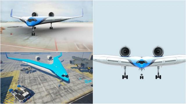 Самолет Flying-V сжигает на 20% меньше топлива и может перевозить более 300 пассажиров