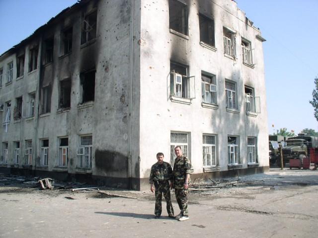 Последствия нападения боевиков на 137й погранотряд