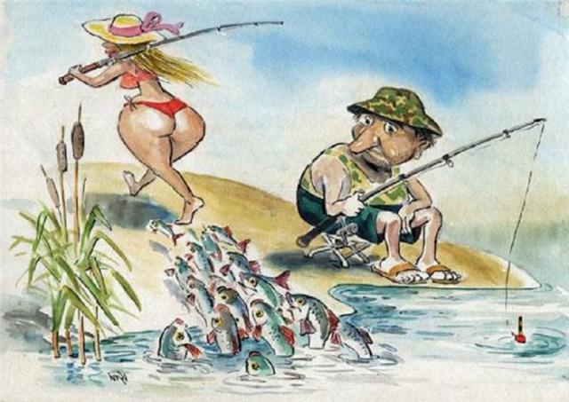 анекдот про рыбалку видео